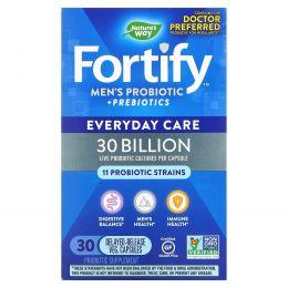 Nature's Way, Fortify Men's 30 Billion Probiotic, 30 Vegetarian Capsules