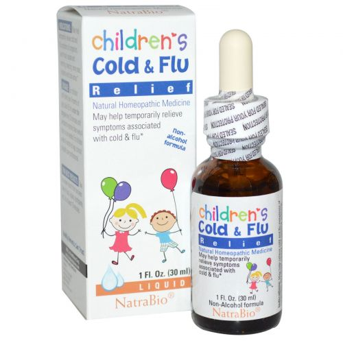 NatraBio, Средство от простуды и гриппа для детей, 1 жидкая унция (30 мл)
