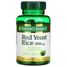 Nature's Bounty, Red Yeast Rice, 600 mg, 120 Capsules