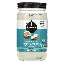 Spectrum Naturals, Органическое кокосовое масло холодного отжима, нерафинированное, 14 жидких унций (414 мл)