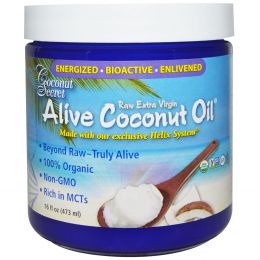 Coconut Secret, Alive Coconut Oil, Raw, Extra Virgin, Organic, 16 fl oz (473 ml)
