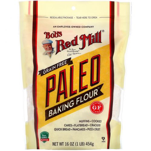 Bob's Red Mill, Беззерновая мука Baking Flour для людей, соблюдающих палеодиету, безглютеновая, 454г