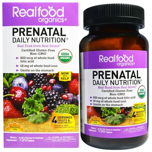 Country Life, Realfood Organics, Prenatal Daily Nutrition, 150 Tablets