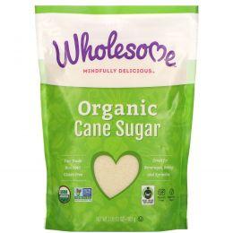Wholesome Sweeteners, Inc., Органический тростниковый сахар, выпаренный сок сахарного тростника, 32 унции (907 г)