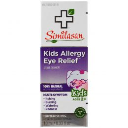 Similasan, Kids Allergy Eye Relief, Sterile Eye Drops, Ages 2+, 0.33 fl oz (10 ml)