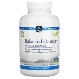 Nordic Naturals, Balanced Omega, Lemon Flavor, 830 mg, 180 Softgels