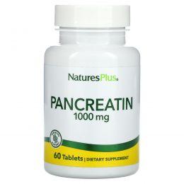 Nature's Plus, Панкреатин, 1000 мг, 60 таблеток