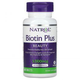 Natrol, Биотин плюс лютеин, 60 таблеток