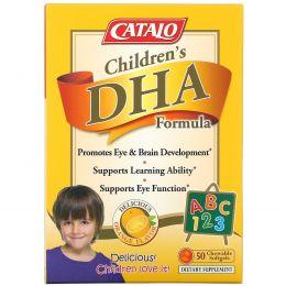 Catalo Naturals, Children's DHA Formula, Orange Flavor, 50 Chewable Softgels