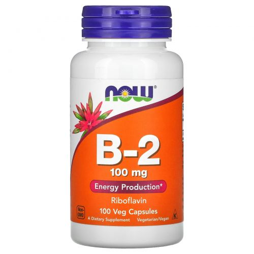 Now Foods, B-2, 100 мг, 100 капсул