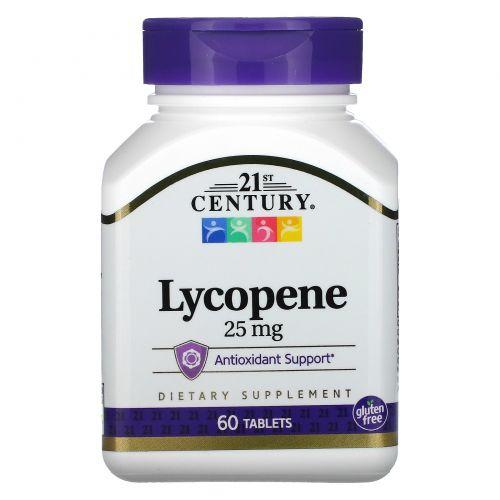 21st Century, Ликопин, максимальная эффективность, 25 мг, 60 таблеток