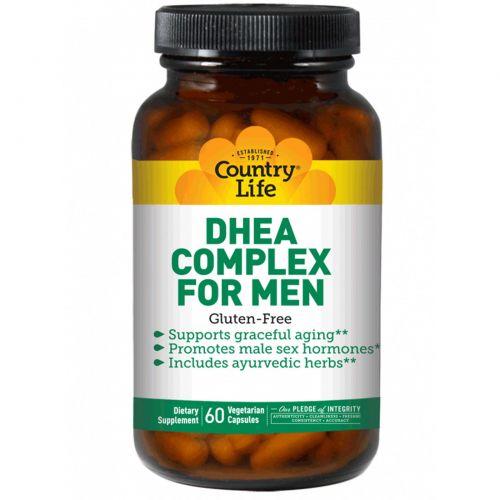 Country Life, Комплекс ДГЭА (дегидроэпиандростерона) для мужчин, 60 веганских капсул