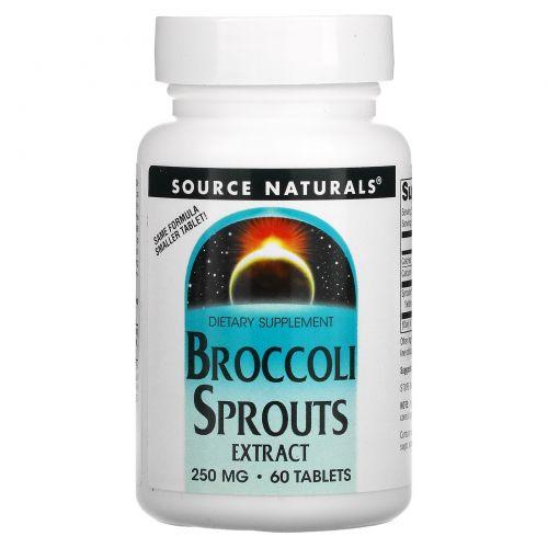 Source Naturals, Экстракт брокколи, 60 таблеток
