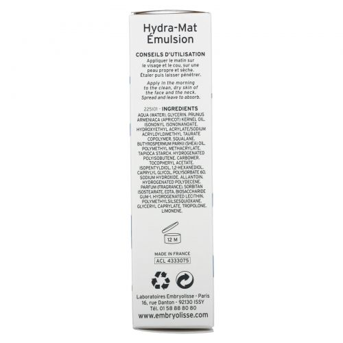 Embryolisse, Hydra-Mat Emulsion, Freshness Care, 1.35 fl oz (40 ml)
