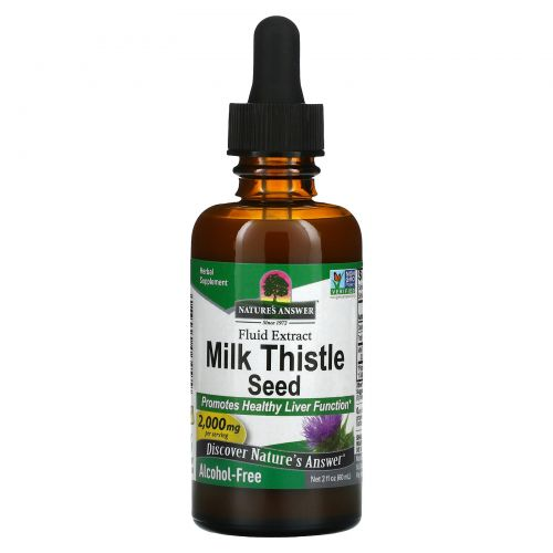 Nature's Answer, Расторопша, без спирта, 2000 мг, 2 жидких унции (60 мл)