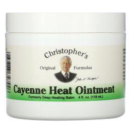Christopher's Original Formulas, Мазь тепло каенского перца 4 жидких унции (118 мл)