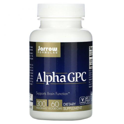 Jarrow Formulas, Альфа ГФХ, 300 мг, 60 вегетарианских капсул