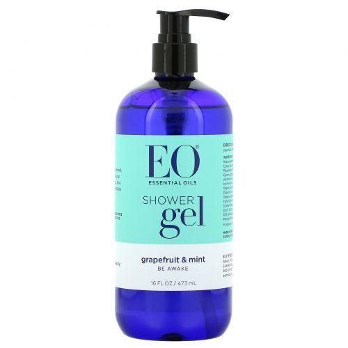 EO Products, Восстанавливающий гель для душа, грейпфрут и мята, 16 жидких унций (473 мл)