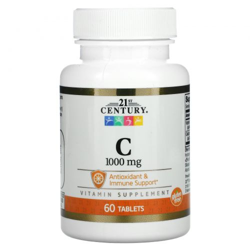 21st Century, Vitamin C, 1,000 mg, 60 Tablets