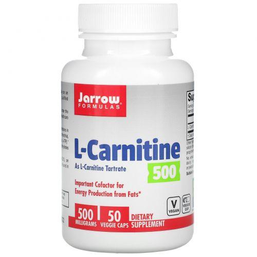 Jarrow Formulas, L-карнитин 500, 50 капсул