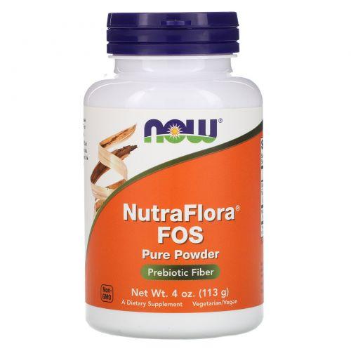 Now Foods, Nutra Flora FOS, 100%-ный чистый порошок, 4 унции (113 г)