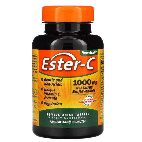 American Health, Эстер-C, 1000 мг, 90 растительных таблеток