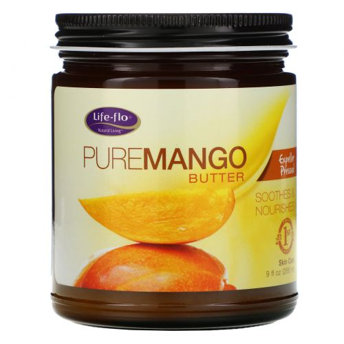 Life Flo Health, Чистое масло манго холодного отжима, 266 мл