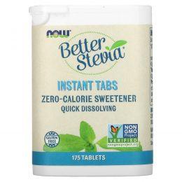 Now Foods, Стевия (Better Stevia), Подсластитель без калорий в растворимых таблетках, 175 таблеток