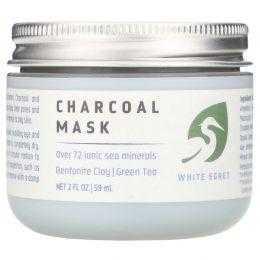 White Egret Personal Care, Угольная маска, 2 жидких унции (59 мл)