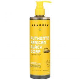 Alaffia, Authentic African Black Soap Body Wash, Charcoal Honey, 12 fl oz (354 ml)