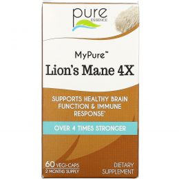 Pure Essence, MyPure, Lion's Mane 4X, 60 Vegi-Caps