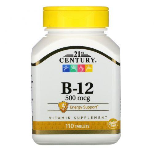 21st Century, Витамин B-12, 500 мкг, 110 таблеток