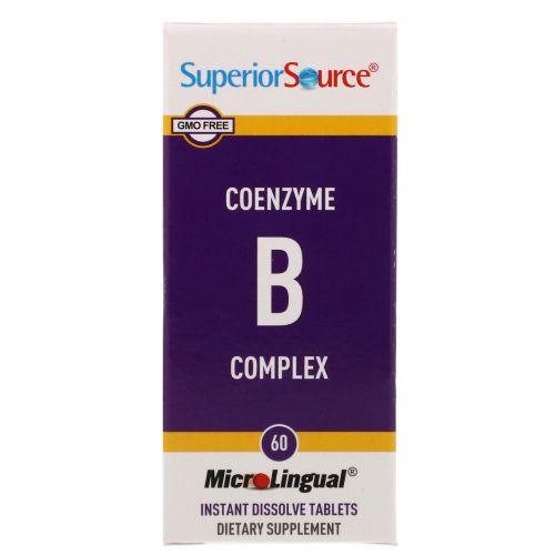 Superior Source, Комплекс коэнзимаB, 60быстрорастворимых таблеток