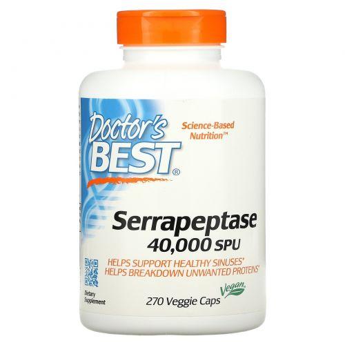 Doctor's Best, Серрапептаза, 270 капсул в растительной оболочке