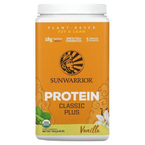 Sunwarrior, Organic, Classic Plus, Vanilla , 1.65 lb (750 g)
