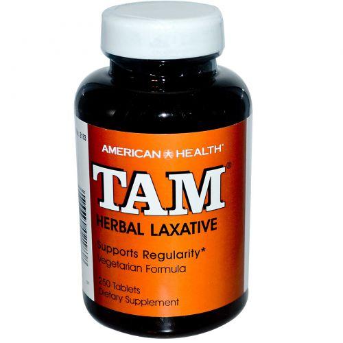 American Health, TAM, растительное слабительное, 250 таблеток