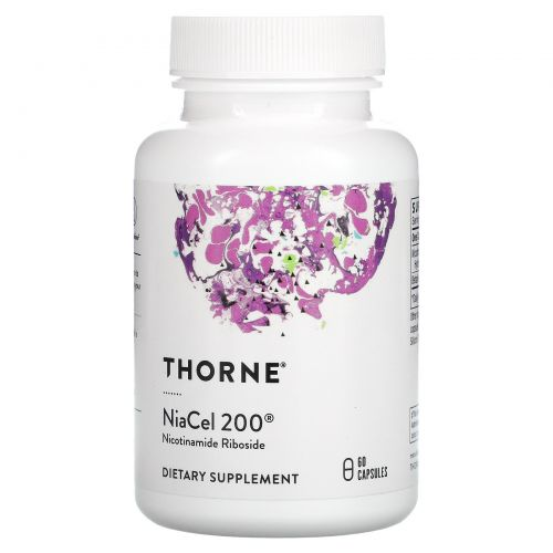 Thorne Research, NiaCel 200, 60 Capsules