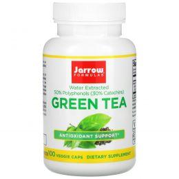 Jarrow Formulas, Зеленый чай, 500 мг, 100 вегетарианских капсул