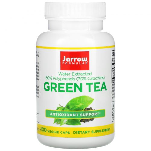 Jarrow Formulas, Green Tea, 500 mg, 100 Veggie Caps