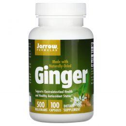 Jarrow Formulas, Имбирь, 500 мг, 100 капсул