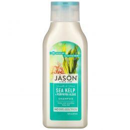 Jason Natural, Чистый натуральный шампунь, успокаивающие морские водоросли, 473 мл