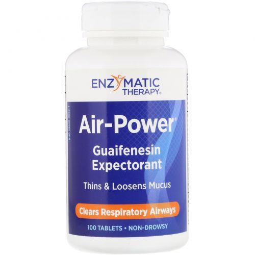 Enzymatic Therapy, «Сила воздуха», средство для дыхательных путей, 100 таблеток