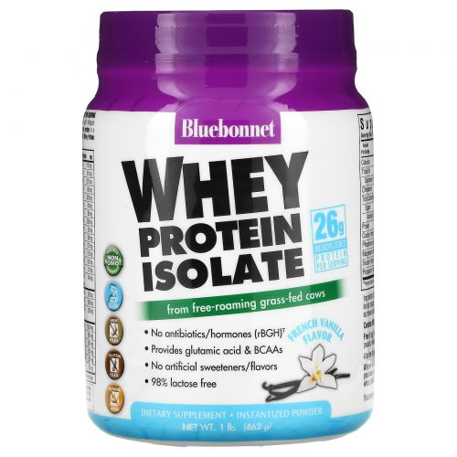 Bluebonnet Nutrition, Whey Protein Isolate, French Vanilla, 1 lb. (462 g)