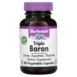 Bluebonnet Nutrition, Тройной бор, 90 вегетарианских капсул