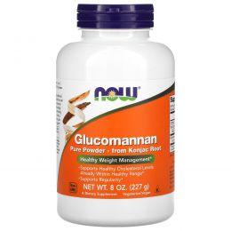 Now Foods, Глюкоманнан, на 100% чистый порошок, 8 унций (227 г)