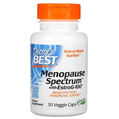 Doctor's Best, Спектр для помощи при менопаузе с EstroG-100, 30 вегетарианских капсул