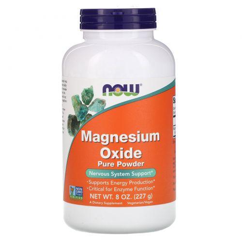 Now Foods, Чистый порошок оксида магния, 8 унций (227 г)