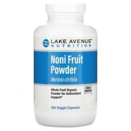 Lake Avenue Nutrition, Noni Fruit Powder, Organic Whole Fruit Powder, 360 Veggie Capsules