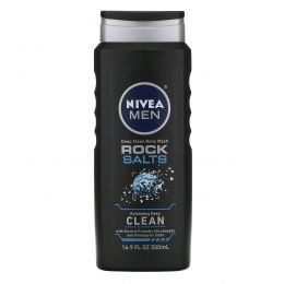 Nivea, Men, Deep Clean Body Wash, Rock Salts, 16.9 fl oz (500 ml)