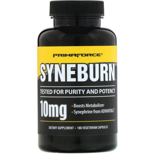 Primaforce, Syneburn, 10 мг, 180 растительных капсул